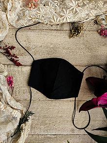 Rúška - Dámské dvouvrstvé rúško - black - 12504468_