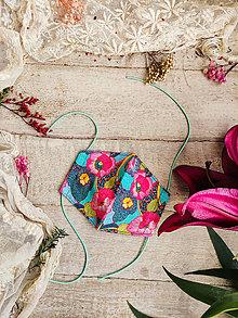 Rúška - Dámské dvouvrstvé rúško - barevné - 12504477_