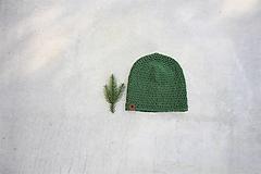 Doplnky - ...pánska čiapka 100% MERINO vlna GREEN (zelená) - 12502217_