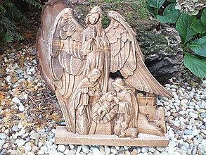 Dekorácie - Svätá rodina s anjelom - 12503582_