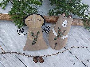 Dekorácie - Vianočné ozdôbky-trošku retro - 12501511_