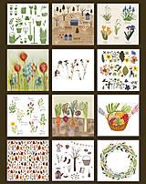 Papiernictvo - Kalendár 2021 ,v záhrade, - 12502309_