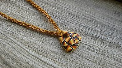 Náhrdelníky - Náhrdelník s mozaikovým príveskom ORIGINÁL, č 3297 - 12503058_
