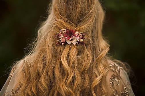 """Kvetinová spona """"čaro jesenného stmievania"""""""