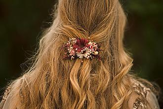 """Ozdoby do vlasov - Kvetinová spona """"čaro jesenného stmievania"""" - 12503589_"""