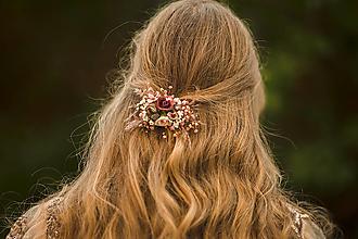 """Ozdoby do vlasov - Kvetinová spona """"šum lásky"""" - 12503716_"""