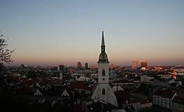 Fotografie - Západ slnka nad Bratislavou - 12503985_