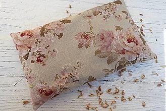 Úžitkový textil - špaldový nahrievací vankúš -ruže na režnej - 12500971_