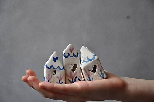 set 3 mini domčekov