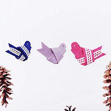 Dekorácie - Filcový vtáčik - 12504864_