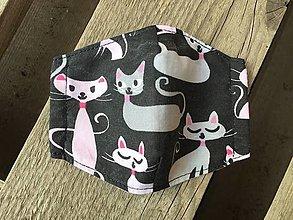 Rúška - XS-detské rúško mačičky - 12500216_