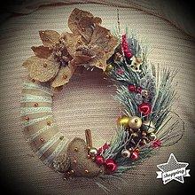 Dekorácie - Vianočný veniec s vrecovinou - 12505220_