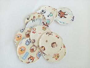Úžitkový textil - Kozmetické tampóny (10 ks) - 12504512_