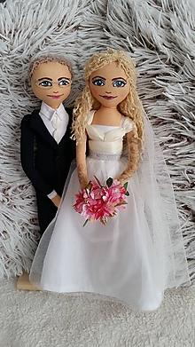 Bábiky - Personalizovaný svadobný párik - 12507662_