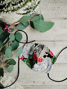 Rúška - Dámské dvouvrstvé rúško - chryzantéma - 12508942_