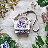 Kabelky - Kabelka SWEET BAG - krémová s potlačou maľovaných kvetov - 12508069_