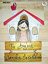 Menovka - dievča a domček