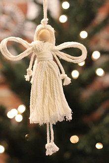 Dekorácie - Vianočný ANJEL - 12507183_