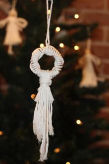Dekorácie - Makramé vianočná ozdoba handmade - 12507450_