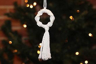 Dekorácie - Makrame vianočná ozdoba - 12507499_