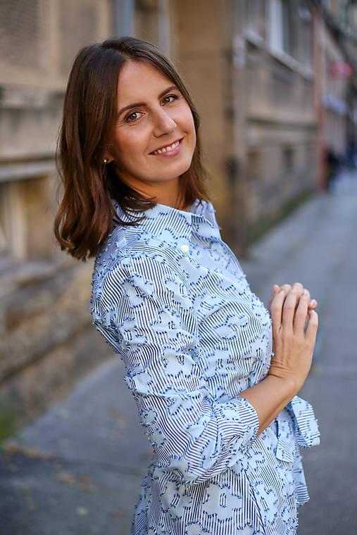 Šaty - Košeľové šaty STRIPES blue - 12506216_