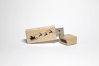 Drobnosti - DREVENÉ USB_VIANOČNÁ NÁLADA II - 12507715_