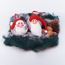 Dekorácie - Vianočná guľa - škriatok - 12507819_