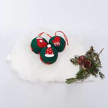 Dekorácie - Vianočná guľa - zelená - 12507896_