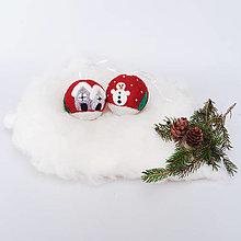 Dekorácie - Vianočná guľa - bordová - 12507959_