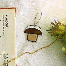 Dekorácie - ★ Vianočná ozdoba cartoon - zasnežený hríbik - 12508317_