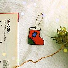 Dekorácie - ★ Vianočná ozdoba cartoon - čižmička/ponožka - 12508337_