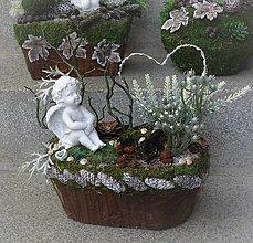 Dekorácie - Spomienková dekorácia s anjelom - 12513276_