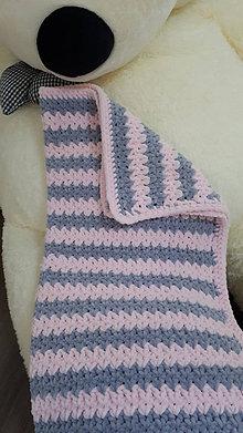 Textil - Hačkovana decká deka - 12509583_