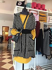 Iné oblečenie - Dámska vesta Mona, Kohútia stopa, OEKO-TEX® - čierno biela - 12513866_