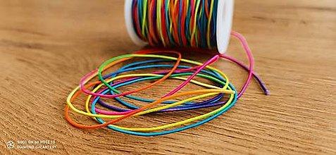 Galantéria - Gumička - 1,5 mm -Multicolor - 12510920_