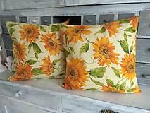 Úžitkový textil - Vankúše slnečnice - 12509655_