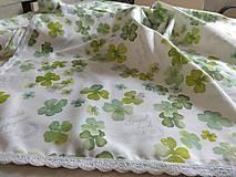 Úžitkový textil - Obrus-štola štvorlístok - 12513221_