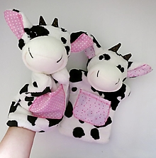 Hračky - Maňuška kravička - na objednávku - 12510579_