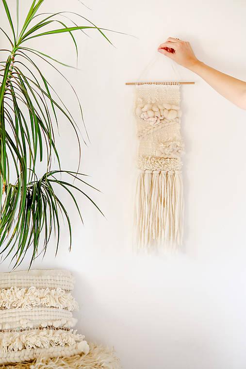 NATURAL Ručne tkaná vlnená tapiséria