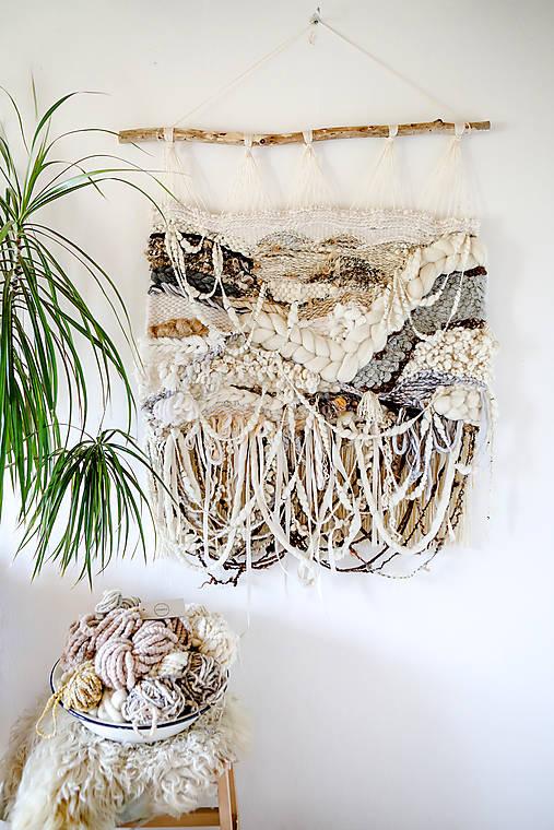 Dekorácie - Ručne tkaná vlnená tapiséria - 12513606_