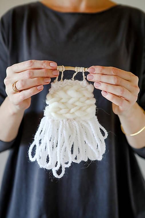 Ručne tkaná vlnená tapiséria - mini