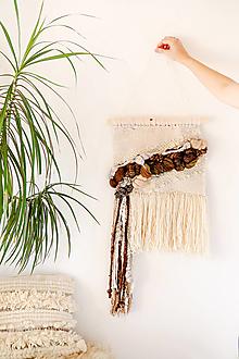 Dekorácie - Ručne tkaná vlnená tapiséria - 12512004_
