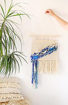 Dekorácie - Ručne tkaná vlnená tapiséria - 12512076_