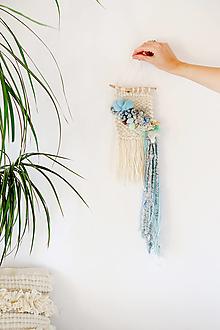 Dekorácie - Ručne tkaná vlnená tapiséria - 12512083_