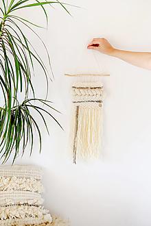 Dekorácie - Ručne tkaná vlnená tapiséria - 12513367_