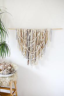 Dekorácie - Ručne tkaná vlnená tapiséria - 12513481_