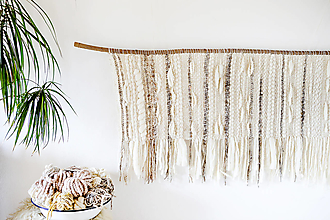 Dekorácie - Ručne tkaná vlnená tapiséria - 12513502_