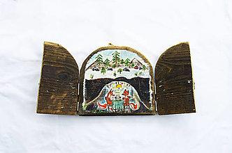 Obrazy - Čaropríbeh starého dreva - Líšky - 12512486_