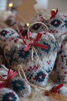Dekorácie - Vianočné srdiečko (Pestrofarebná) - 12511479_
