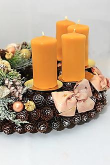 Svietidlá a sviečky - Sviečka na adventný veniec 4ks - 12509776_